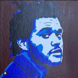 The Weeknd acrylic canvas